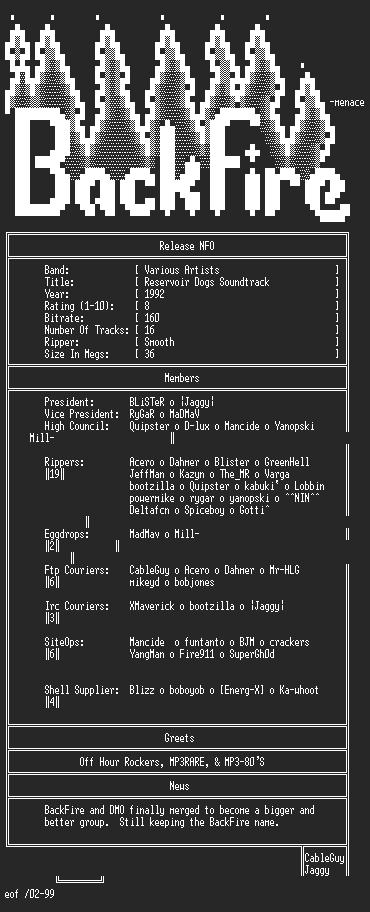 NFO file for VA-Reservoir_Dogs_Soundtrack-1992-Smooth-BKF