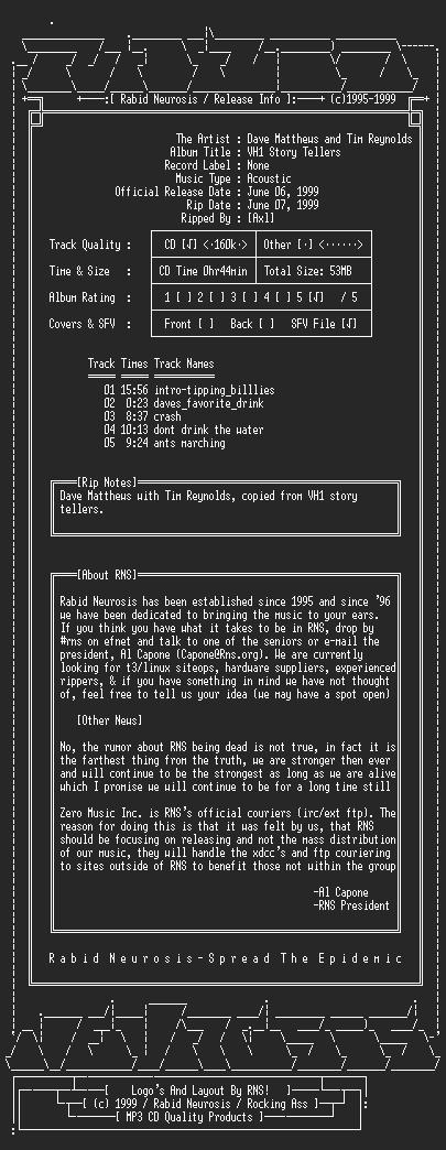 NFO file for Dave_Matthews_With_Tim_Reynolds-VH1_Storytellers-1999-RNS