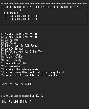NFO file for Everything_But_The_Girl_-_The_Best_Of_EBTG_(1996)-MGC