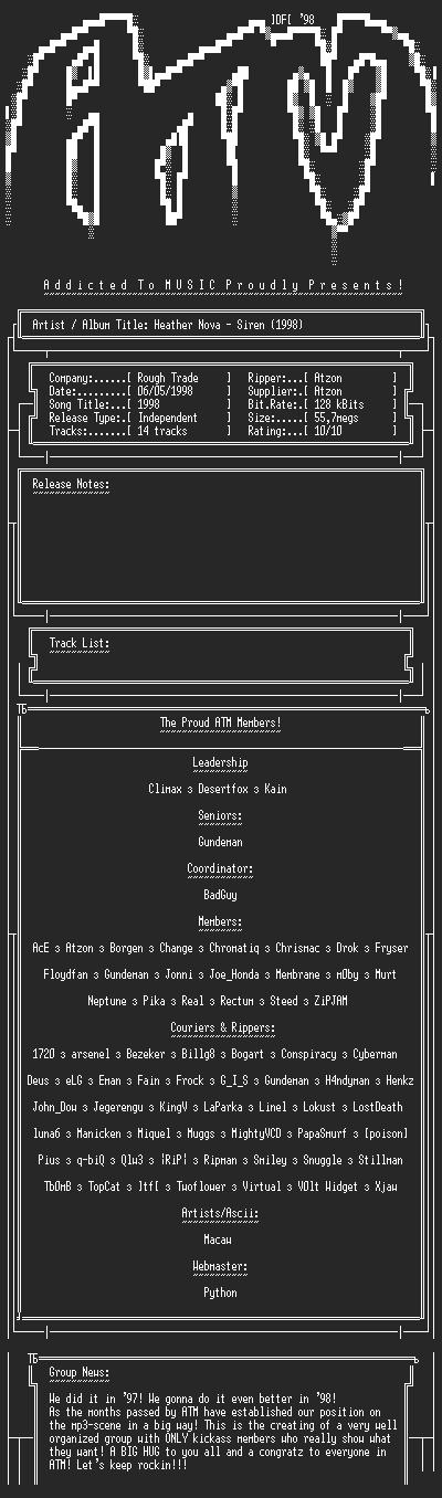 NFO file for Heather_Nova-Siren_(1998)-ATM