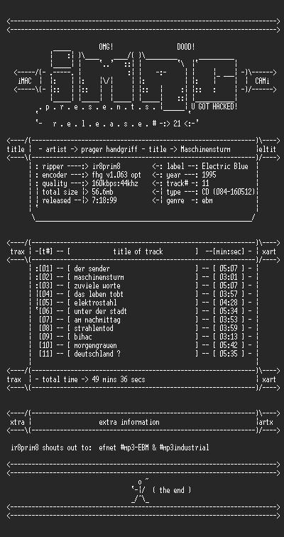 NFO file for Prager_Handgriff_-_Maschinensturm-iMAC