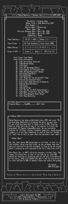 NFO file for Krayzie_Bone-Thug_Mentality_1999-2CD-1999-RNS