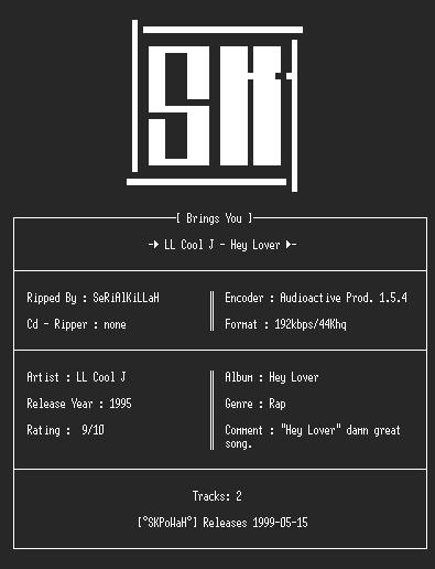 NFO file for LL_Cool_J_-_Hey_Lover(Single)(192kbps)-SKPoWaH