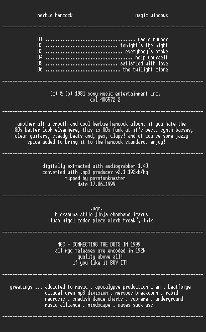 NFO file for Herbie_hancock_-_magic_windows_(1981)-MGC