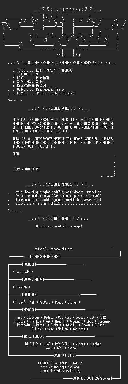 NFO file for Lunar_Asylum-PTMCD138-MindScape