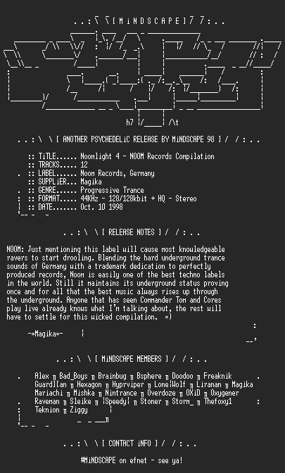 NFO file for Noomlight_4-NOOM_Records_Compilatio-MindScape