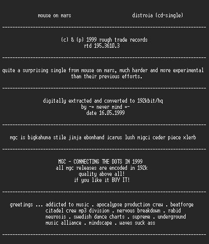 NFO file for Mouse_on_Mars_-_Distroia_(1999)_cdsingle-MGC