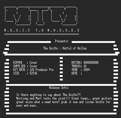 NFO file for The_Smiths_-_Hatful_Of_Hollow_(1984)_-_MTM