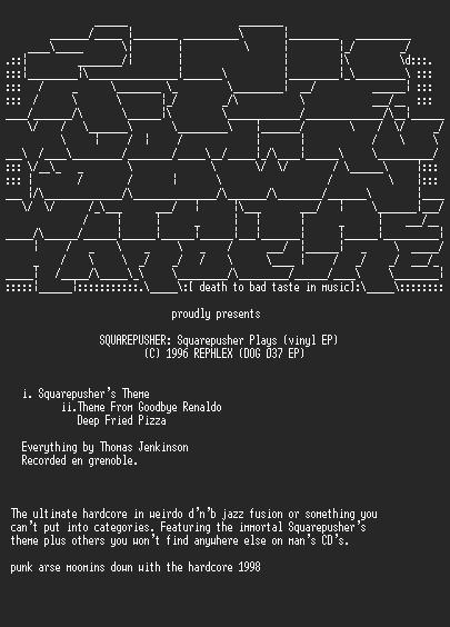 NFO file for Squarepusher_-_Squarepusher_Plays_EP-PAM
