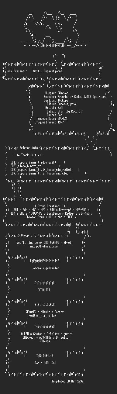 NFO file for Saft_-_Superstjarna_(1997)-wAx