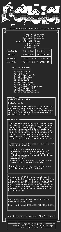 NFO file for Savage_Garden-Affirmation-1999-RNS