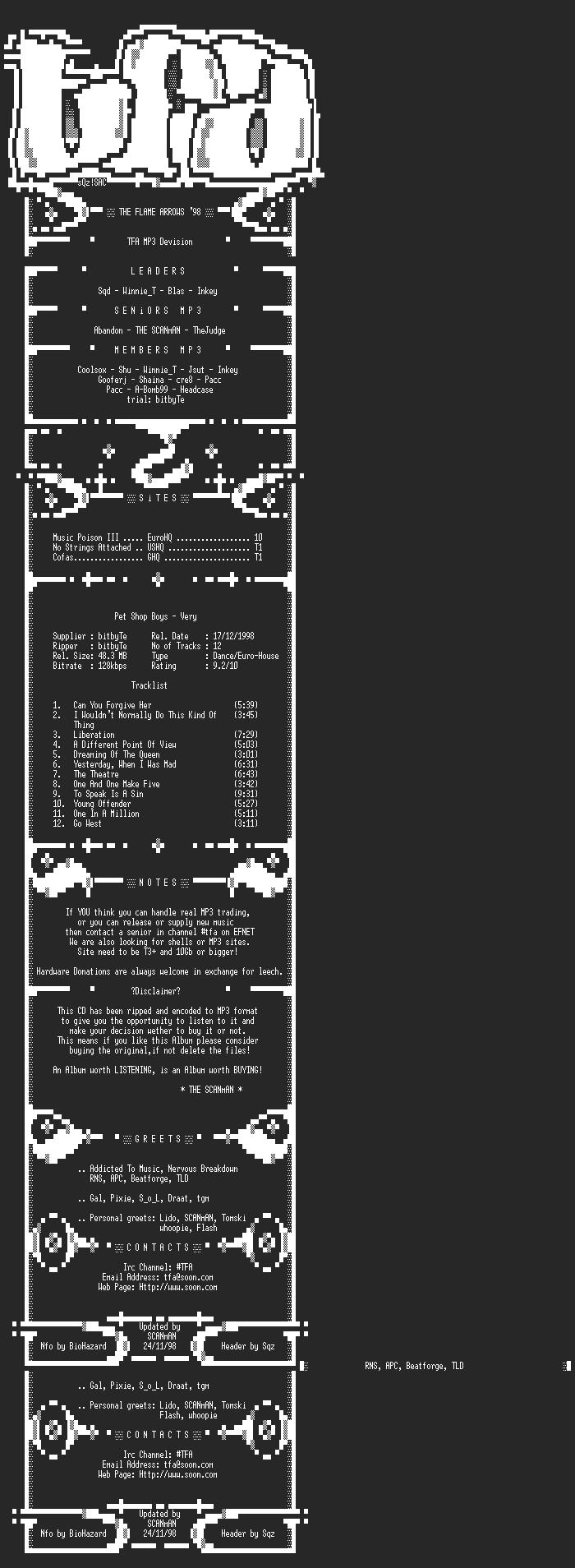 NFO file for Pet_Shop_Boys_-_Very_-_(1993)-TFAMP3