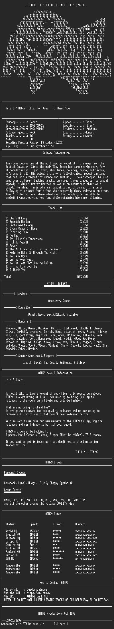 NFO file for Tom_jones_-_I_Thank_You_-_(199x)-ATM99