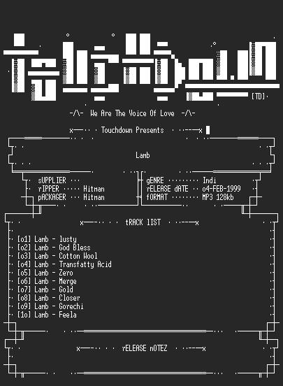NFO file for Lamb_-_Lamb-(1996)-TD